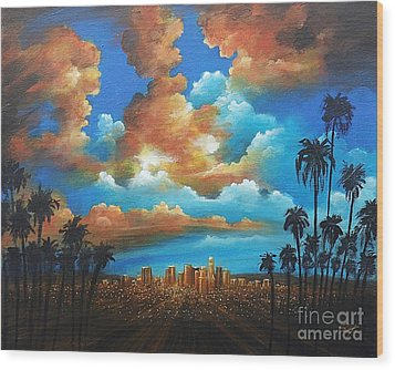 City Of Angels Wood Print
