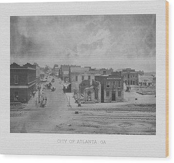 City Of Atlanta 1863 Wood Print by War Is Hell Store