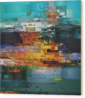 City Of Color 1 Wood Print by David Hansen