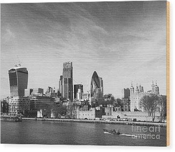 City Of London  Wood Print by Pixel Chimp