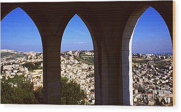 City Of Nazareth Wood Print by Thomas R Fletcher