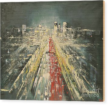 City Of Paris Wood Print by Maja Sokolowska