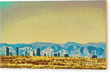 Wood Print featuring the photograph City On The Plains by Catherine Fenner