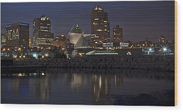 Wood Print featuring the photograph City Reflection by Deborah Klubertanz