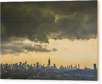 City Storm Wide Wood Print