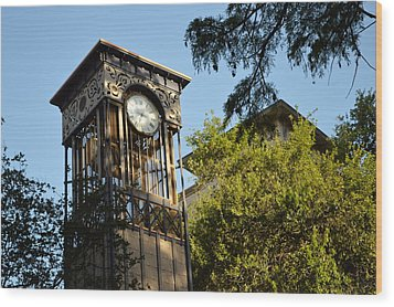 Wood Print featuring the photograph City Time  by Shawn Marlow