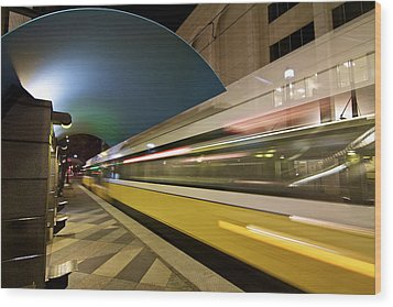 Wood Print featuring the photograph City Transit by John Babis