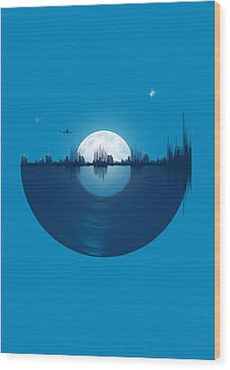 City Tunes Wood Print