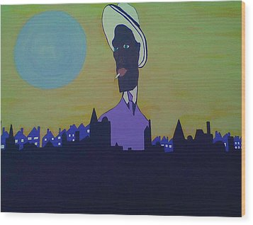 City Walk Wood Print by Lew Griffin