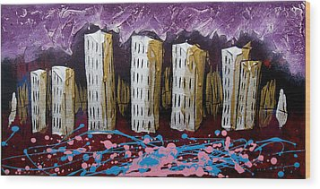 City's Leftovers Wood Print by Nathan Wilson