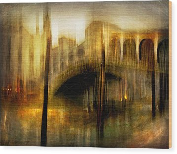Wood Print featuring the photograph Cityscape #22. Venetian Bridge by Alfredo Gonzalez