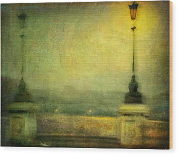 Wood Print featuring the photograph Cityscape #29. Parisienne Walkways by Alfredo Gonzalez