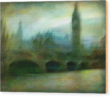 Wood Print featuring the photograph Cityscape #31. Blue Angel's Dream by Alfredo Gonzalez