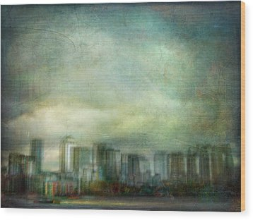 Wood Print featuring the photograph Cityscape #32. Chrystalhenge by Alfredo Gonzalez
