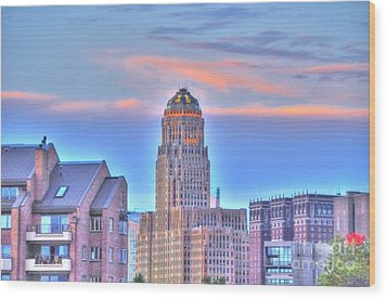 Cityscape Wood Print by Kathleen Struckle