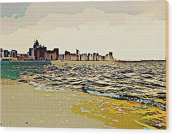 Cityscape Wood Print by Peter Waters