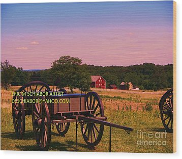 Civil War Caisson At Gettysburg Wood Print