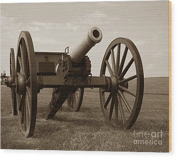 Civil War Cannon Wood Print by Olivier Le Queinec