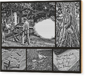 Wood Print featuring the photograph Civil War Collage by Geraldine DeBoer