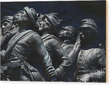 Civil War Figures Wood Print by Paul W Faust -  Impressions of Light