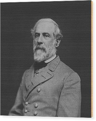 Civil War General Robert E Lee Wood Print by War Is Hell Store