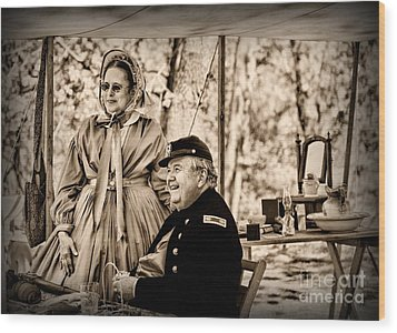 Civil War Officer And Wife Wood Print by Paul Ward