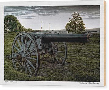 Wood Print featuring the photograph Civil War Rifles by Richard Bean