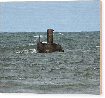 Civil War Shipwreck Wood Print by Brian M Lumley