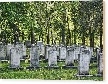 Civitl War Warrior Graves Wood Print by Linda Phelps