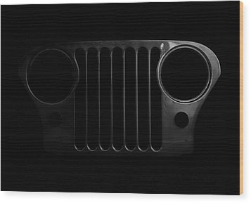 Cj Grille- Fade To Black Wood Print