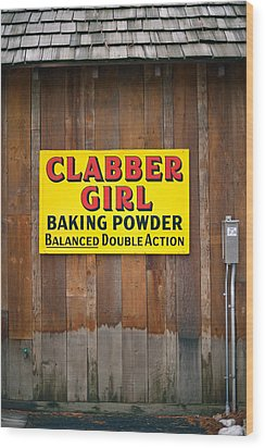 Clabber Girl Wood Print