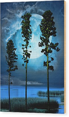 Clair De Lune Wood Print by Tyler Robbins