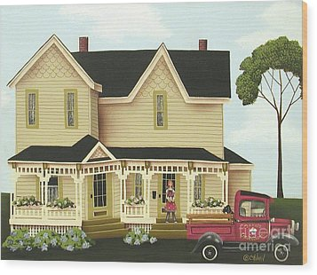Clara's Confections Wood Print by Catherine Holman
