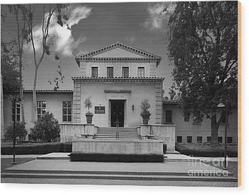 Claremont Graduate University Harper Hall Wood Print by University Icons