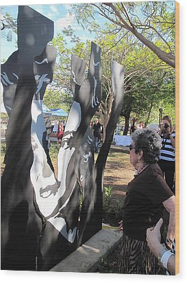 Claribel Alegria Admires Herself Wood Print