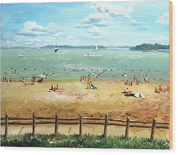 Carlyle Lake Beach In Il Wood Print by Ping Yan