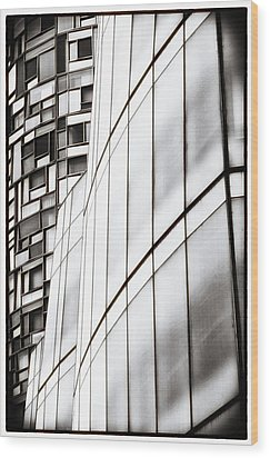 Class And Glass Wood Print by Russell Styles
