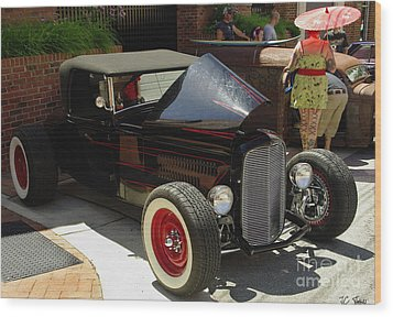 Classic Auto Show Wood Print by James C Thomas