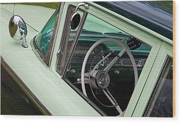 Classic Automobile Interior Wood Print by Mick Flynn