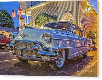 Classic Blue Caddy At Night Wood Print by Edward Fielding