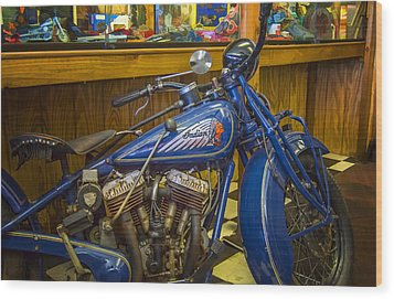 Wood Print featuring the photograph Classic Blue Indian  by Steve Benefiel