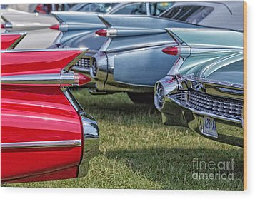 Classic Caddy Fin Party Wood Print by Edward Fielding