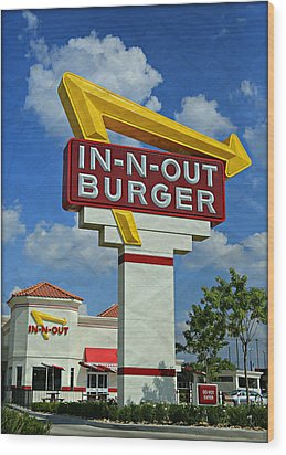 Classic Cali Burger 1.1 Wood Print by Stephen Stookey