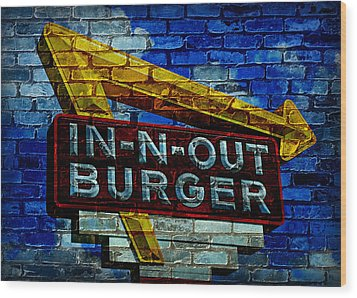 Classic Cali Burger 2.4 Wood Print by Stephen Stookey