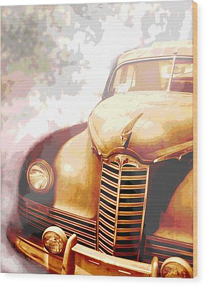 Classic Car 1940s Packard  Wood Print by Ann Powell