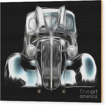 Wood Print featuring the photograph Classic Car Abstract by JRP Photography