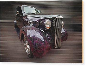 Classic Car Wood Print by Andre Faubert