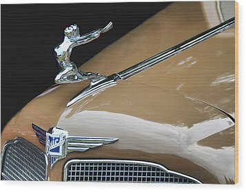 Classic Car - Buick Victoria Hood Ornament Wood Print