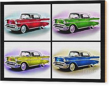 Classic Car Pop Art Wood Print by Jo Collins