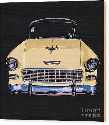 Classic Chevy Pop Art Wood Print by Edward Fielding